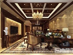 欧式大户型豪华别墅客厅装修效果图――威宁装修网