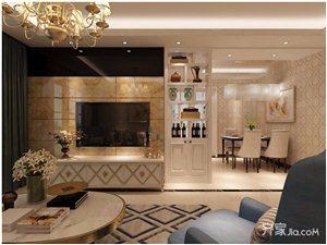 100�O欧式风格两居餐厅装修效果图――威宁装修网推荐