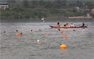 2019年夹江冬泳协会抢鸭子,接力赛活动