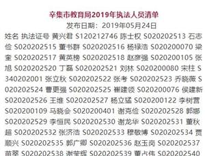 【民生政策】2019年亚游官方网教育局執法人員清單