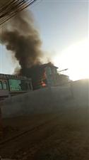 灵山朱家峪4月11日早上6点左右发生巨大火灾