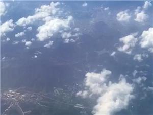 首次上飞机拍照片