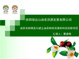 27油茶良种筛选与建立油茶种质资源库科技创新项目