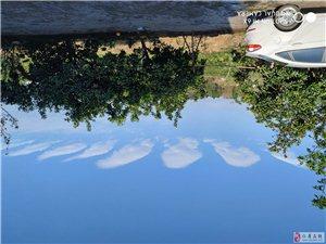 仁寿今天的天气真好,蓝天白云超级美!