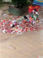葛坳乡上脑村下老组垃圾桶变成垃圾场