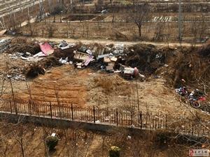 王府办事处九龙居小区前面的垃圾又没人管了