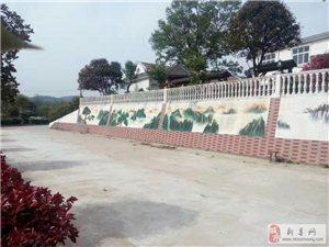 新县烈士陵园博物馆墙体彩绘施工中