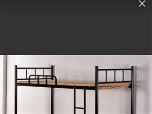 老式厚壁上下铺单人床两套,床板齐全