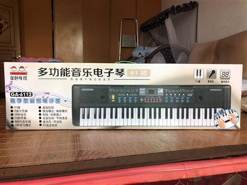 多功能音樂電子琴、61個鍵。全新、未拆封。