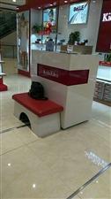 1.2米9成新收银台加试鞋凳