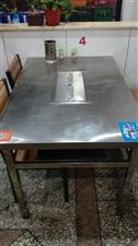 烤羊排桌子出售,不锈钢材质,8成新9成新10成新,可做一般桌子使用可做烤羊腿使用,碳烤无烟,原价52...
