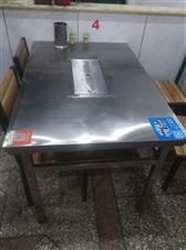 羊腿桌出售:1、九成新,不锈钢材质。2、尺寸:1.2米×0.8米×0.75米。3、桌面有羊腿支架、烤...