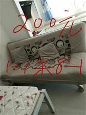 折叠沙发,可放倒当床,一米八长,朝阳镇自取