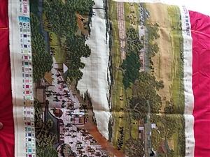 纯手工十字绣,清明上河图拱桥版长1.8米宽60,绣工精细,有喜欢收藏的请致电