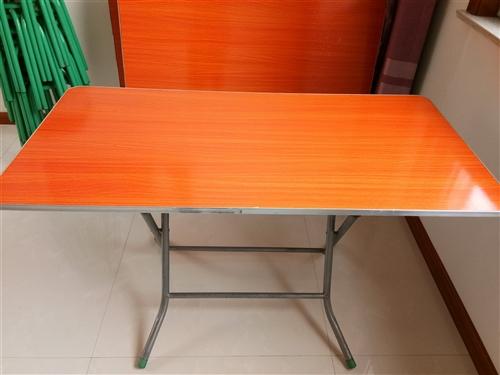 全新桌子凳子出售 全新桌子凳子,買來沒用過,便宜出售,桌子可折疊,桌子40,凳子8