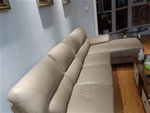 皮艺沙发,好打理,现低价出售。