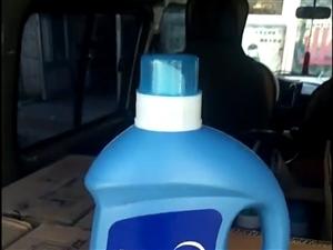 超市外兑了库存蓝月亮洗衣液6斤装便宜出售35一桶