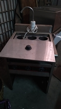 九成新肠粉机一套,磨浆机,六孔煮面机