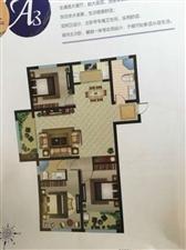 山水华庭,138平,毛坯房,6楼,78万,送小房29平