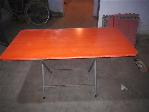 有十几张折叠桌和两斗桌及凳子,九成新。有意私聊:18637292577.价格面议。