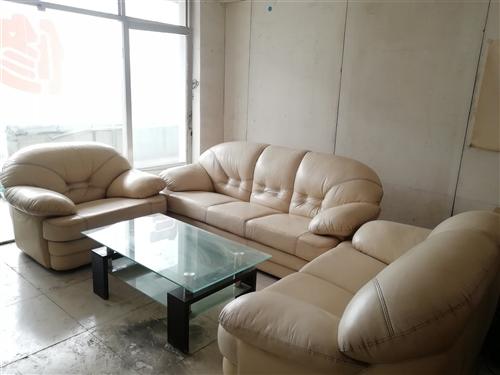 家用沙發,8成新,全真皮沙發配套茶幾,有需要的電話聯系13133235658.低價出售價格面議,可看...
