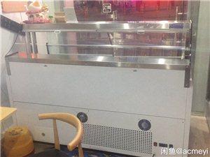 长1.8米*宽0.8*1.3高风冷展示柜,购买不到一个月,带有18个不锈钢盒子,有盖!原价7000,...