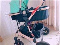 高景观婴儿车九成新,我家娃儿最多坐了五六次,防震防灰防尾气会东同城便宜出售260打包带走