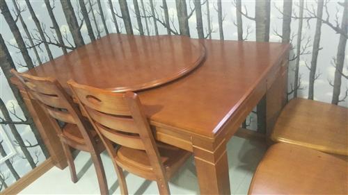 便宜出售紅木長條桌,圓桌(能圓能長)桌子在左旗有要的打電話18047303952,,,9.5成新就用...