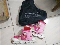 38码粉色旱冰鞋,买回来孩子就穿了三五次