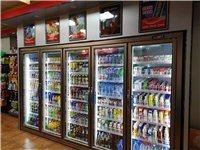 轉讓品牌連鎖便利店整套專用設備貨架:包括陳列架,收銀臺,雙屏電腦收費系統,煙酒柜,五門智能變頻冰箱等...