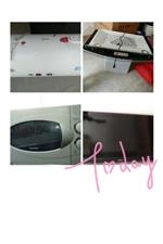 低价出售自家用九九成新电视机,微波炉,热水器,油烟机!