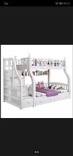 全实木多功能儿童床双人上下铺床9成新,上铺宽1.3米,下铺宽1.5米带梯柜,送两个上下配套椰棕床垫。...