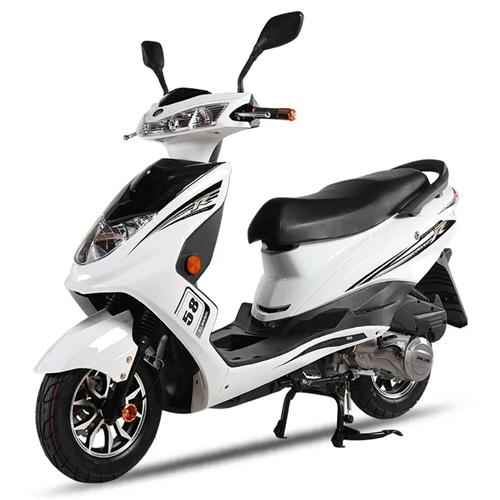 金福踏板摩托车红色 8成新 金浪发动机125cc  动力足 忍痛卖了!!价格可以商量!!