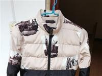 一折转让自己穿的&潮牌羽绒服男 立领加厚冬新款3d个性 印花保暖外套帅气〈身高在155到166 体重...