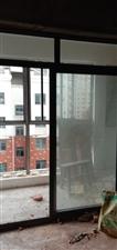 急售二手 阳台钢化双开推拉玻璃门,高2.36米,宽2.06米       15856543288