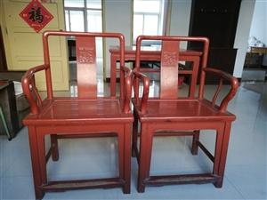 150年楸木家具,方桌,椅子,箱子,柜子。一套