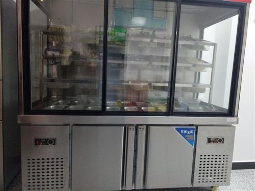 低价转让九五新定制型点菜柜,尺寸180cm*80cm*190cm,带超大冷冻室和冷藏室。并且带有18...