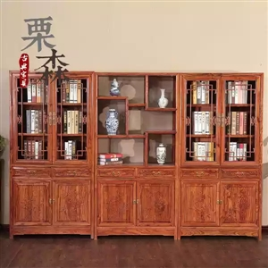 仿古书橱,博古架,书桌,鸡翅小方桌,贡桌家俱