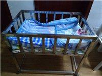 不锈钢婴儿床处理了,质量看得见,带万向轮和刹车,长90宽60高80,有需要的可以加微信1248634...