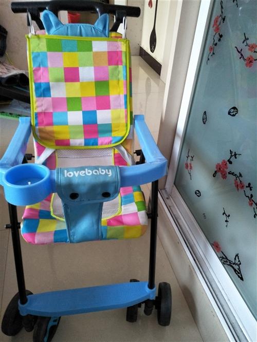 出门遛娃神器,轻便,简易婴儿手推车,可坐可折叠,前面那个护栏可以取开,方便宝宝下车,九成新,超级轻,...