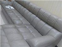 真皮沙发六成新,喜欢的私聊