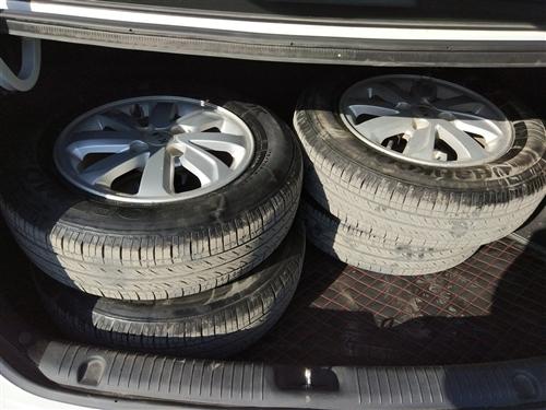 出售起亚k2拆车轮毂轮胎,原车原厂的,跑了四万公里,14寸4孔的,有要的联系,13582080844