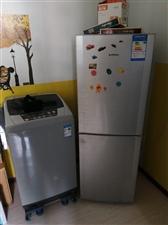 洗衣机和冰箱,均9成新,工作正常,两台机子1200带走,若只要一件也可