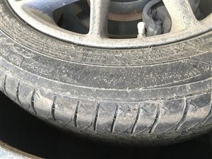 出售迈腾B8原车轮胎一条 几乎全新 胎毛都在 是米其林轮胎  有意者电联18920579527 价格...