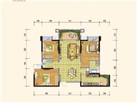 北城时代二期王牌户型,97平米套三双卫对中庭