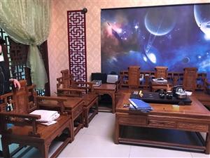 中式黄花梨木桌子一套,带茶海!藤条桌子三套!出售!可单买