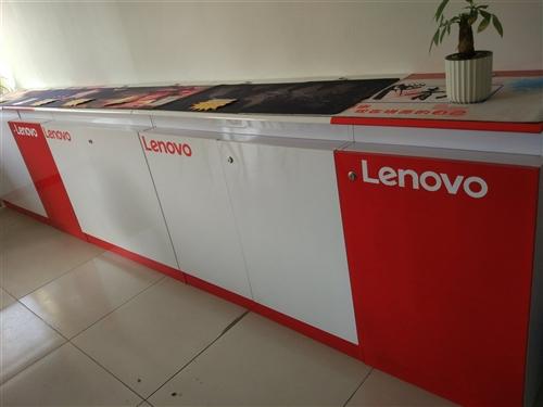 电脑柜台展示柜前台9成新 质量非常好  一组柜台为两个白色加一个红色 规格单个白色柜台100*50*...