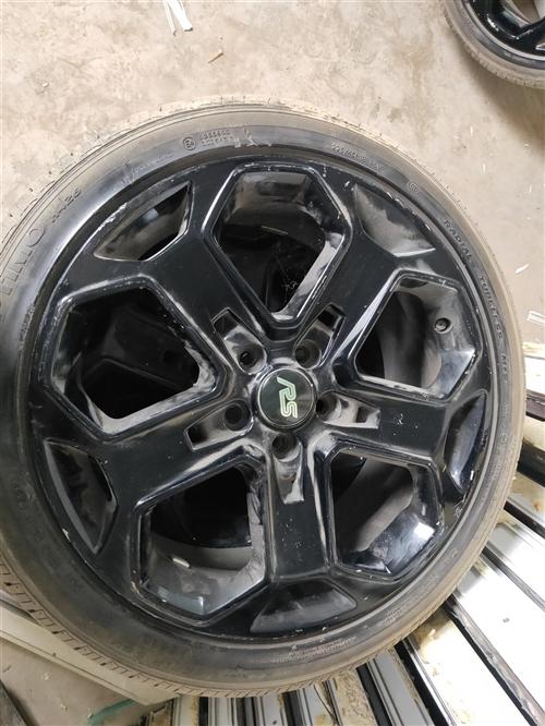 18寸RS雪花運動 輪轂帶輪胎 改裝神器、 車賣了留著沒用