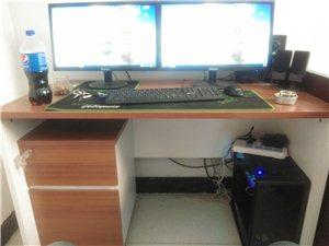 电脑桌办公桌带柜子 用了一个多月