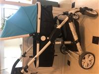 低价转让婴儿推车可坐可躺 99成新